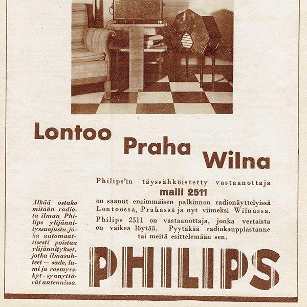 フィンランドのヴィンテージ雑誌「KOTILIESI」より PHILIPS広告  0091