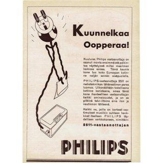 フィンランドのヴィンテージ雑誌「KOTILIESI」より PHILIPS広告  0093