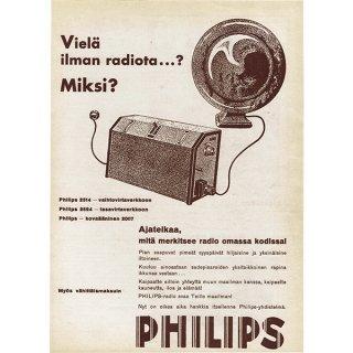 フィンランドのヴィンテージ雑誌「KOTILIESI」より PHILIPS広告  0095