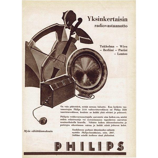 フィンランドのヴィンテージ雑誌「KOTILIESI」より PHILIPS広告  0097