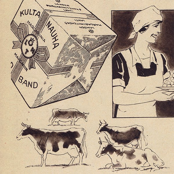 フィンランドのヴィンテージ雑誌「KOTILIESI」よりKULTANAUHA  0099