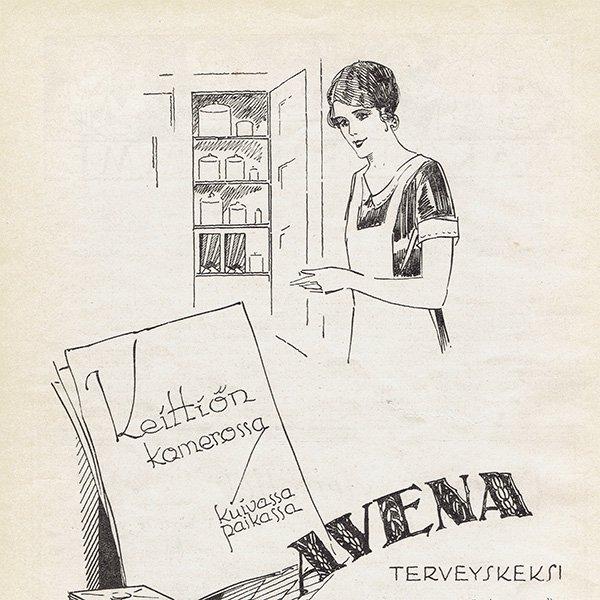 フィンランドのヴィンテージ雑誌「KOTILIESI」よりAVENA広告  0101