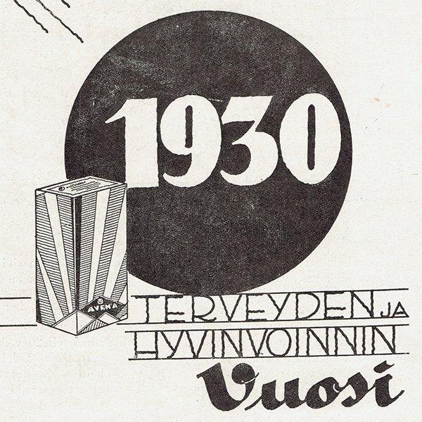 フィンランドのヴィンテージ雑誌「KOTILIESI」よりAVENA広告  0102