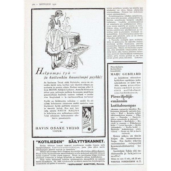 フィンランドのヴィンテージ雑誌「KOTILIESI」より広告  0105