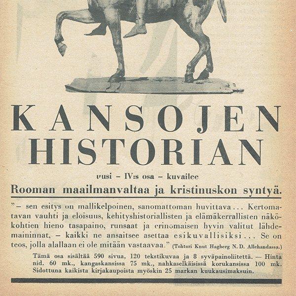 フィンランドのヴィンテージ雑誌「KOTILIESI」よりORVO広告  0109