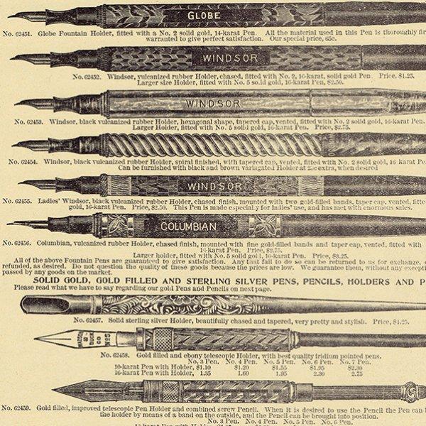 シアーズ・ローバック通販カタログより万年筆・ニブ 3set(1968年)sr006