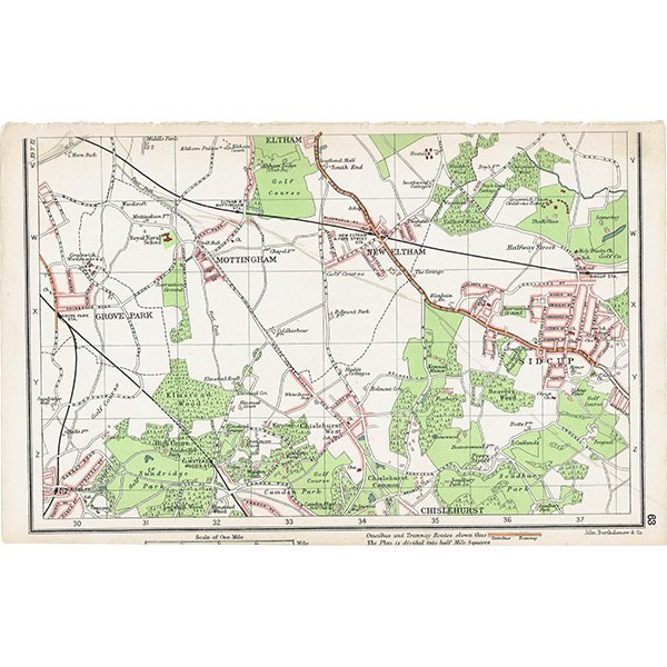 ロンドン近郊アンティークマップ 地図010