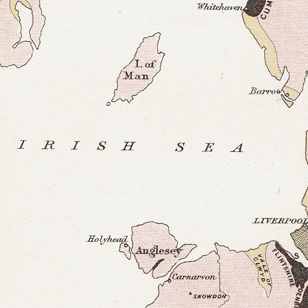 イギリス炭田アンティークマップ 地図011