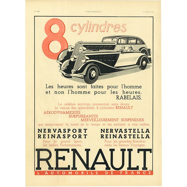 RENAULT(ルノー)クラシックカーのヴィンテージ広告 0029<img class='new_mark_img2' src='https://img.shop-pro.jp/img/new/icons5.gif' style='border:none;display:inline;margin:0px;padding:0px;width:auto;' />
