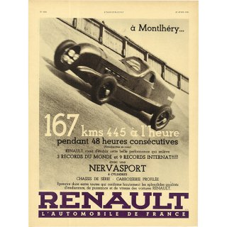 RENAULT(ルノー)スポーツクラシックカーのヴィンテージ広告 0030<img class='new_mark_img2' src='https://img.shop-pro.jp/img/new/icons5.gif' style='border:none;display:inline;margin:0px;padding:0px;width:auto;' />