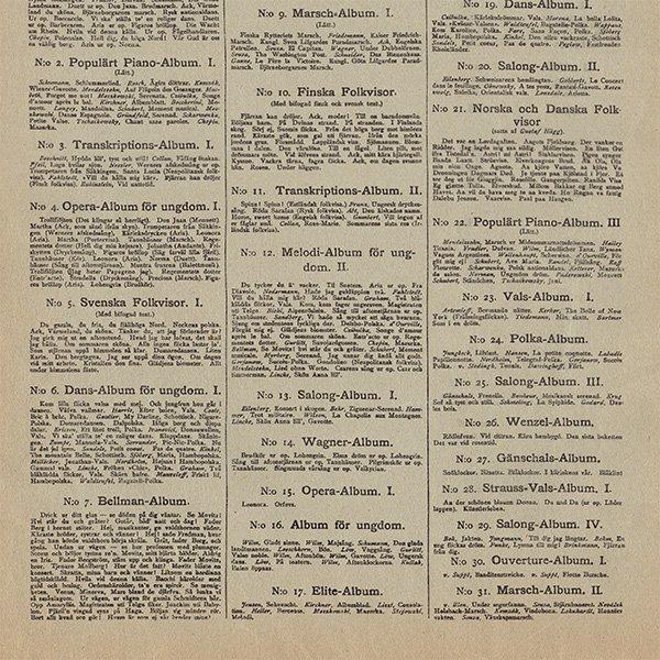 スウェーデンの古い楽譜表紙 060