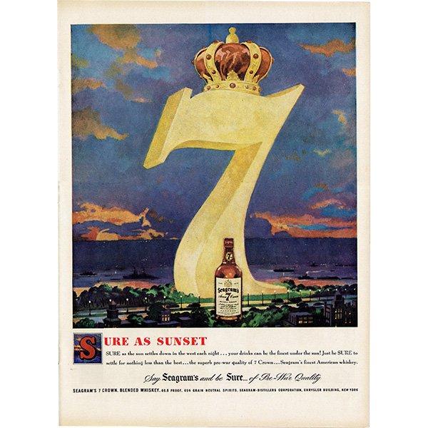 アメリカのヴィンテージ広告〜Seagram〜 シーグラムセブンクラウン 012