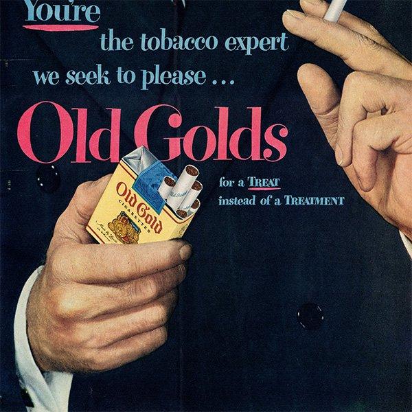 アメリカのヴィンテージ広告〜Old Golds〜タバコ広告  002