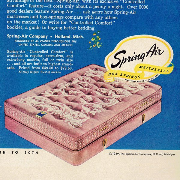 アメリカのヴィンテージ広告〜SPRING AIR〜ベッド広告  004