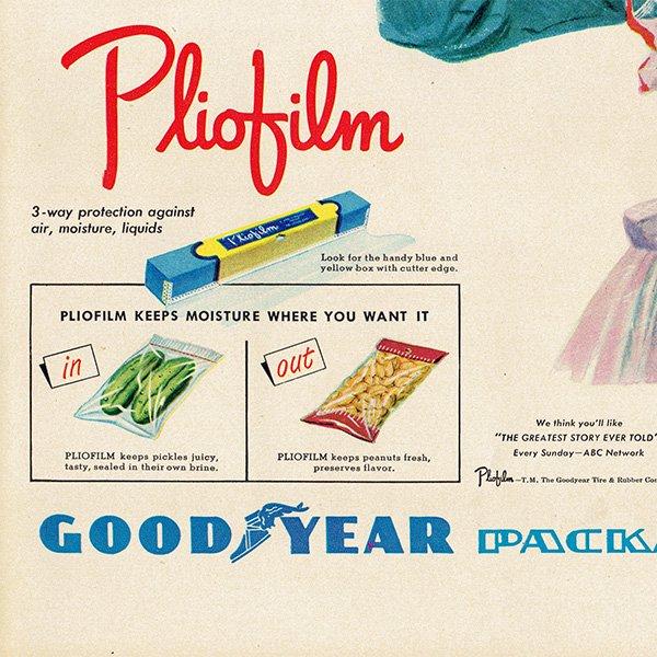 アメリカのヴィンテージ広告〜Pliofilm Good Year〜ラップフィルム広告  005