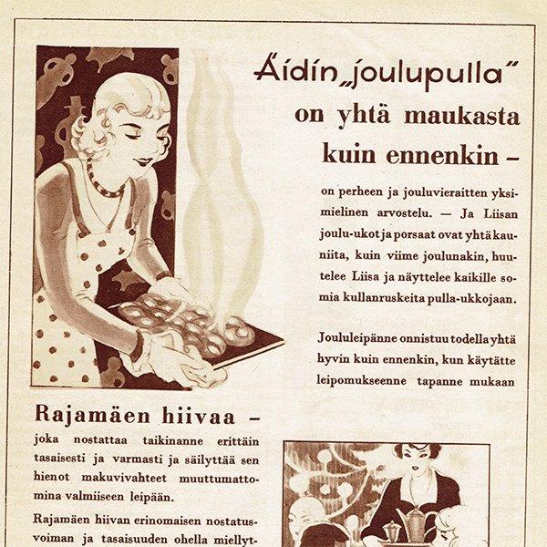 フィンランドのヴィンテージ雑誌「KOTILIESI」より広告ページ  0116