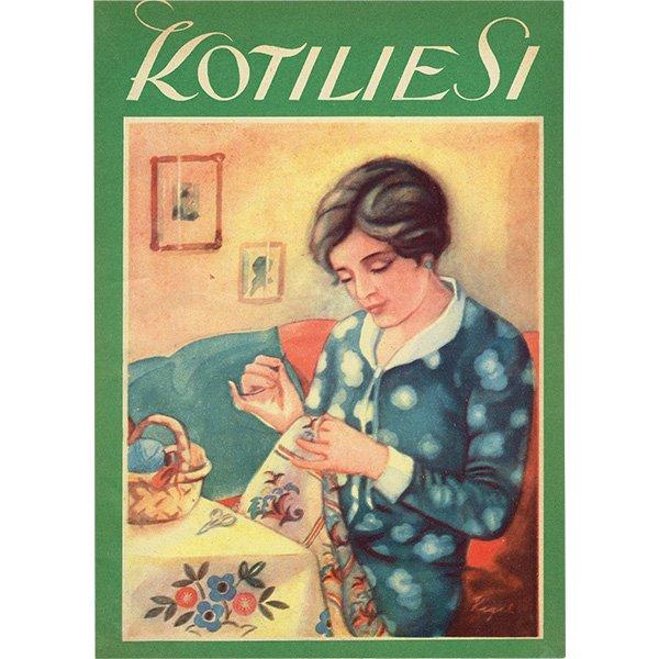 フィンランドのヴィンテージ雑誌「KOTILIESI」より広告ページ  0117