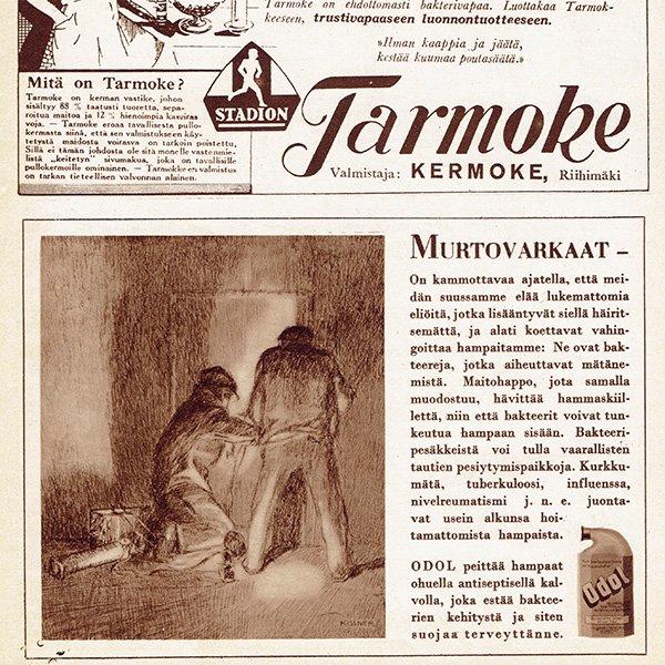フィンランドのヴィンテージ雑誌「KOTILIESI」より広告  0122