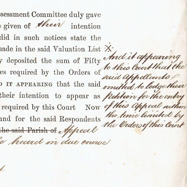 イギリスの古い手書き書類 アンティーク書類 1886年 #065