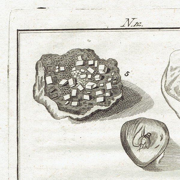 18世紀アンティークプリント 鉱物、宝石、岩、石、鉱物学 0029