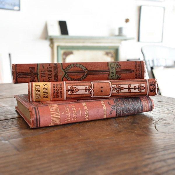 イギリス アンティーク ブック 本 洋書 3冊セット ディスプレイ016