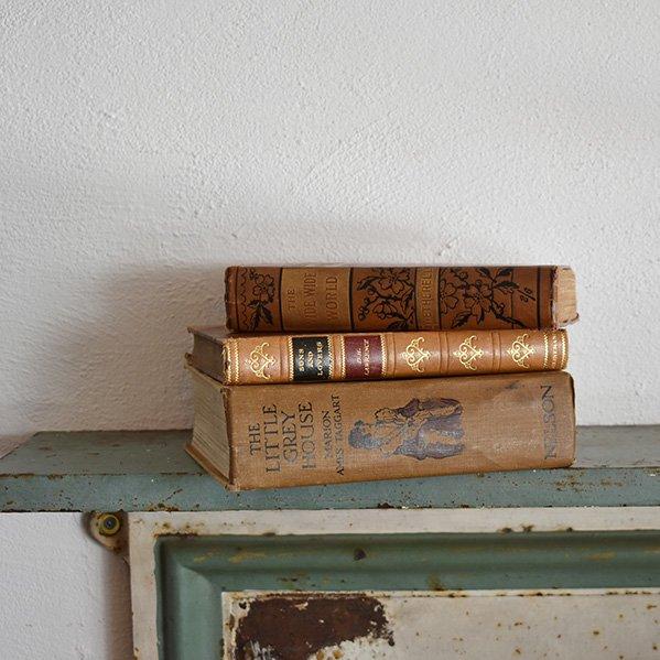 イギリス アンティーク ブック 本 洋書 3冊セット ディスプレイ017