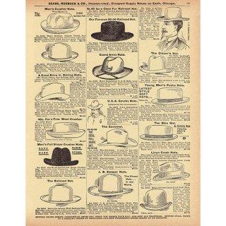 シアーズ・ローバック通販カタログより帽子 ハット(1968年)sr019