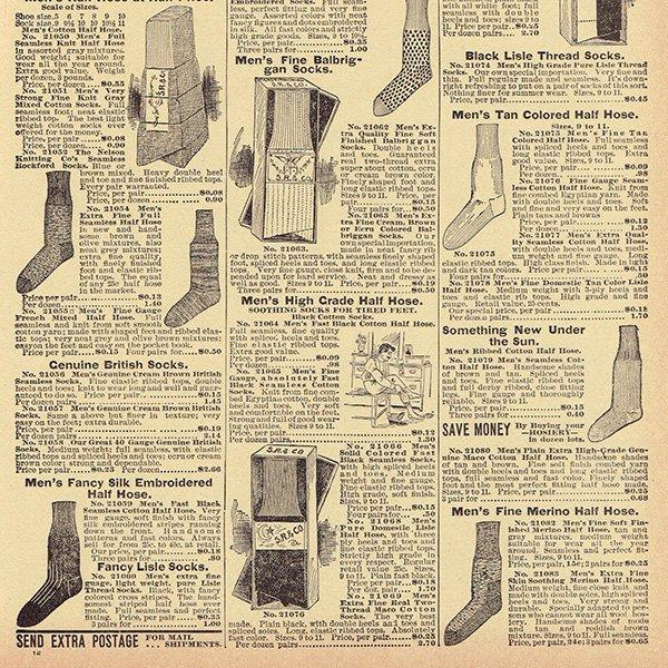 シアーズ・ローバック通販カタログよりストッキング・靴下(1968年)sr022