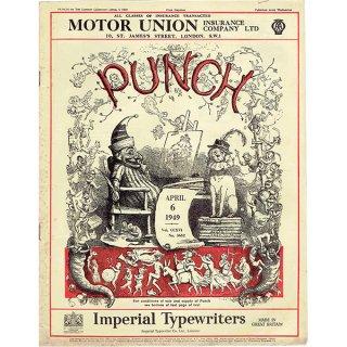 イギリスの週刊風刺漫画雑誌PUNCH(パンチ)1949年4月6日号 0127