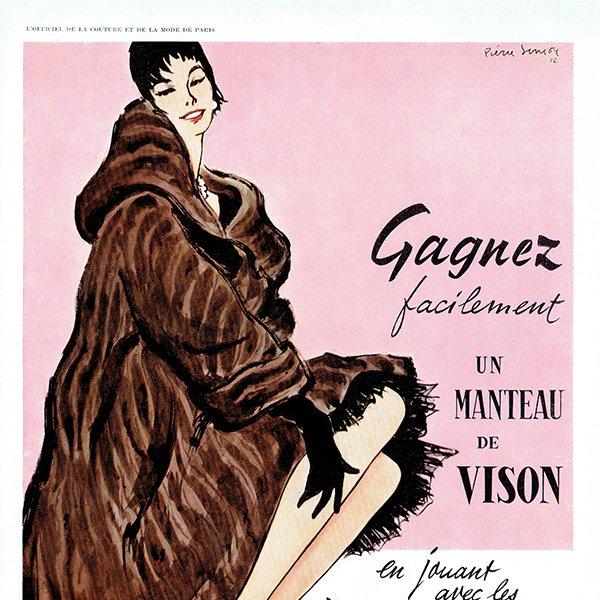 フランスの1950年代ファッション雑誌より 0130<img class='new_mark_img2' src='https://img.shop-pro.jp/img/new/icons5.gif' style='border:none;display:inline;margin:0px;padding:0px;width:auto;' />