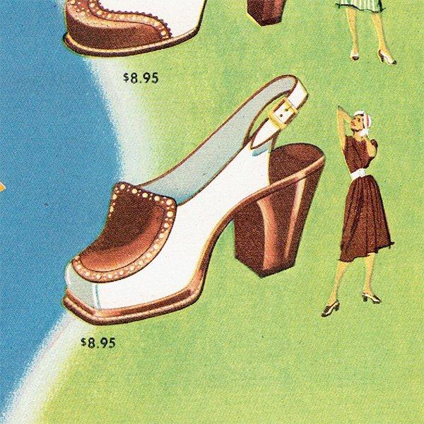 アメリカの1940年代ファッション雑誌より靴の広告 0131<img class='new_mark_img2' src='https://img.shop-pro.jp/img/new/icons5.gif' style='border:none;display:inline;margin:0px;padding:0px;width:auto;' />