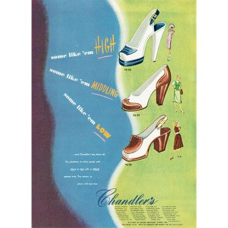 アメリカの1940年代ファッション雑誌より靴の広告 0131
