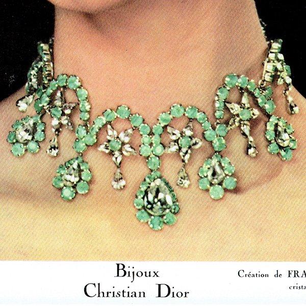 フランスの1950年代ファッション雑誌よりCaron(キャロン)の広告 0132