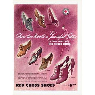 アメリカの1930年代ファッション雑誌よりレッドクロスシューズ(RED CROSS SHOES)の広告 0135