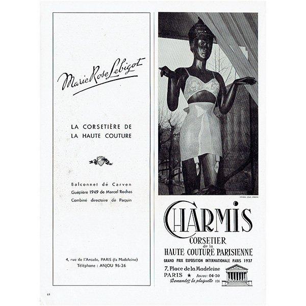 フランスの1940年代ファッション雑誌よりCadolle(カドール) 0139
