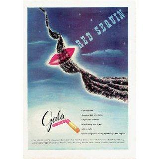 イギリスの1940年代ファッション雑誌よりGala LIPSTICK 口紅 0140