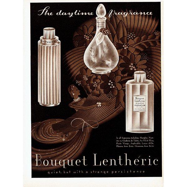 アメリカの1930年代ファッション雑誌よりBouquet Lenthéric(レンテリック) 香水 0142