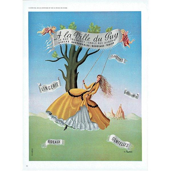 フランスの1940年代ファッション雑誌よりLa Vie du Guy ランジェリー 0144