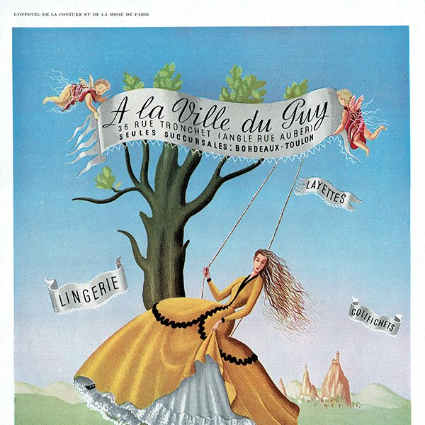 フランスの1940年代ファッション雑誌よりLa Vie du Guy ランジェリー 0144<img class='new_mark_img2' src='https://img.shop-pro.jp/img/new/icons5.gif' style='border:none;display:inline;margin:0px;padding:0px;width:auto;' />