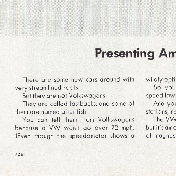 1960年代 フォルクスワーゲンビートル(VW Beetle)ヴィンテージ雑誌広告 004<img class='new_mark_img2' src='https://img.shop-pro.jp/img/new/icons5.gif' style='border:none;display:inline;margin:0px;padding:0px;width:auto;' />