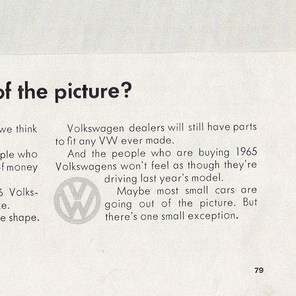 1960年代 フォルクスワーゲンビートル(VW Beetle)ヴィンテージ雑誌広告 007