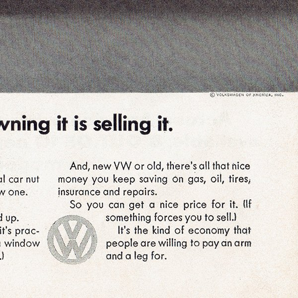 1960年代 フォルクスワーゲンビートル(VW Beetle)ヴィンテージ雑誌広告 008