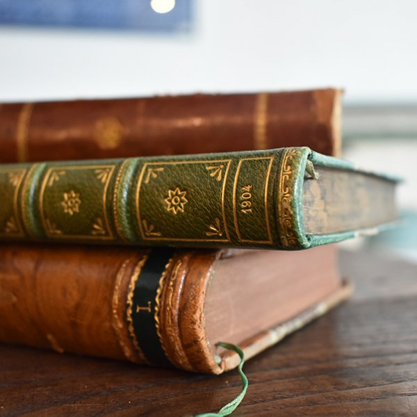 デンマーク 北欧 アンティークブック 古い洋書 3冊セット ディスプレイ021