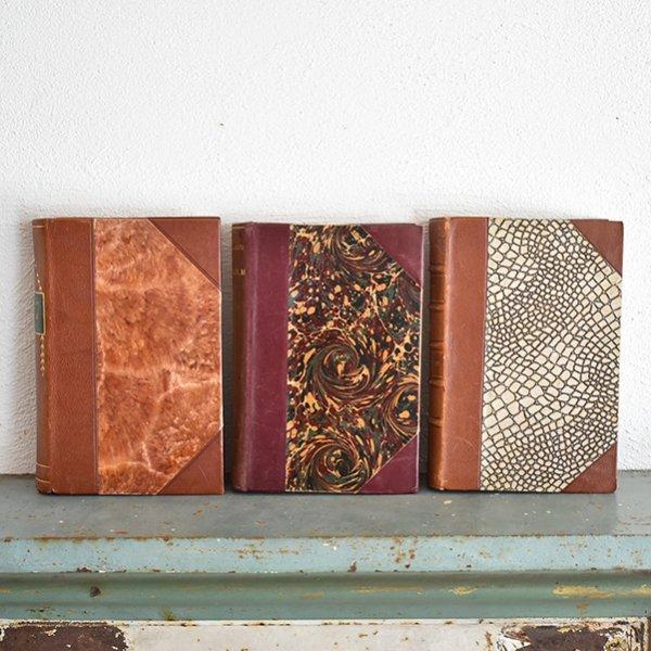 デンマーク 北欧 アンティークブック 古い洋書 3冊セット ディスプレイ022