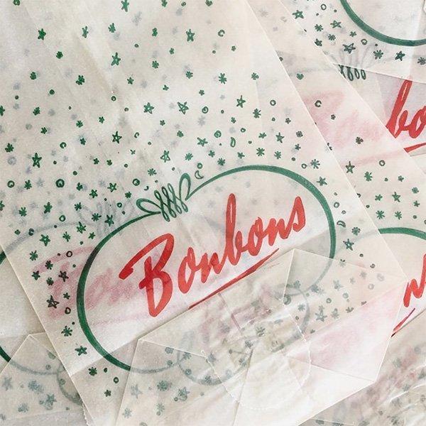 フランス ヴィンテージ Bonbonsペーパーバッグ