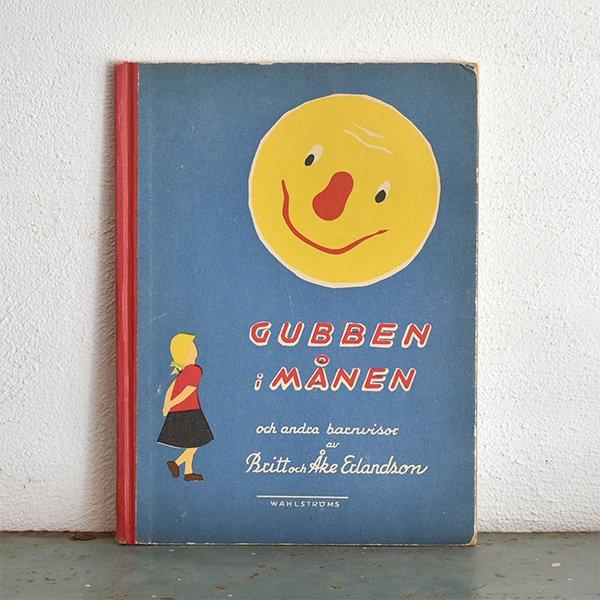 スウェーデン GUBBEN i MANEN(月に住むおじいさん)楽譜付き 1946年 029