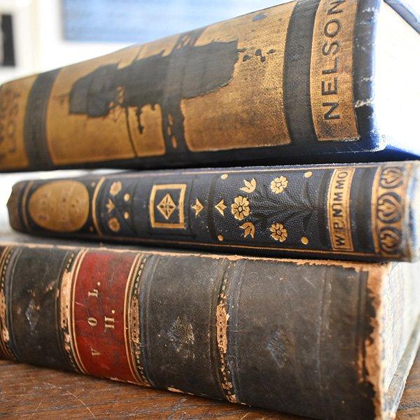イギリス アンティークブック 古い洋書 3冊セット ディスプレイ032