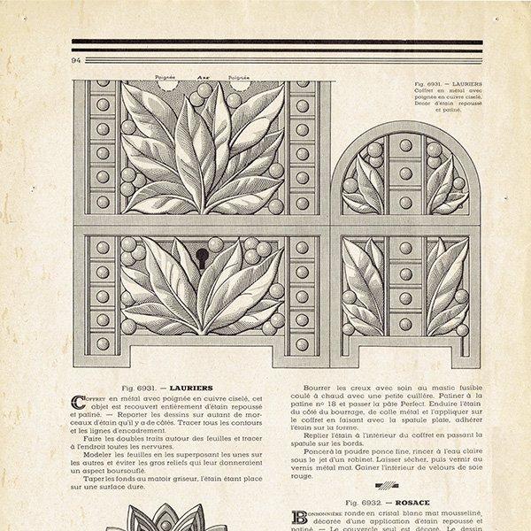 フランスのアールデコ装飾美術雑誌 〜L'ARTISAN PRATIQUE〜より 0149