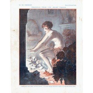 フランスの雑誌裏表紙 〜LA VIE PARISIENNE〜より(Armand Vallée)0139