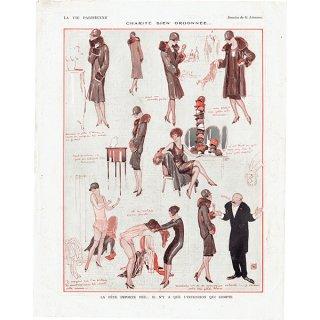 フランスの雑誌裏表紙 〜LA VIE PARISIENNE〜より(ジョルジュ・レオネック/Georges Léonnec)0157